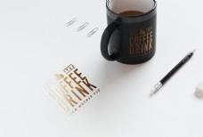 烫金与金粉凸感高档字体设计模板