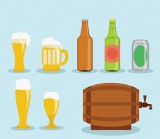 卡通啤酒 元素