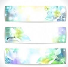 炫彩花卉横幅