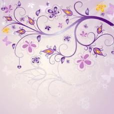 紫色花底纹