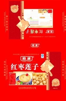 红枣莲子包装模板