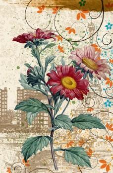 古典花卉裝飾畫