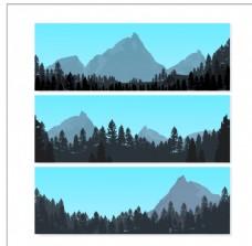 景观与山横幅