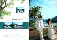 婚纱情侣照艺术写真相册模版