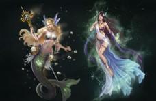 女神联盟游戏高清插画