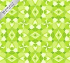 抽象绿色花纹无缝背景矢量素材