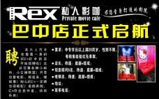 REX私人影咖招聘海报