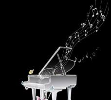 发光的钢琴