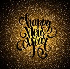 金色新年贺卡