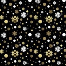 金色雪花无缝背景