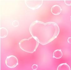 粉色气泡背景