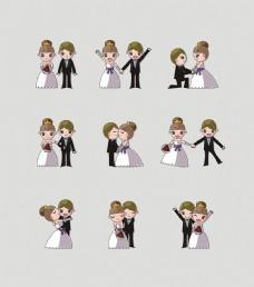 婚庆卡通人物