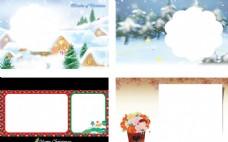唯美圣誕節賀卡模板系列
