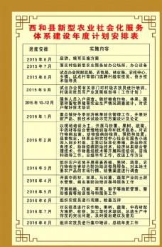 年度计划安排表