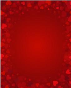 红色爱心背景