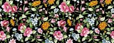欧式花卉平铺背景