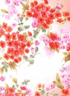 浪漫花卉背景