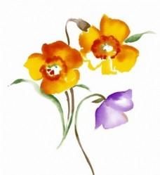 手绘花朵素材