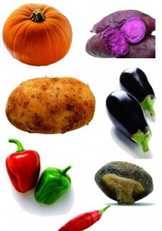 蔬菜素材分层图